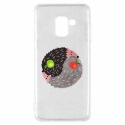 Чохол для Samsung A8 2018 Hedgehogs yin-yang