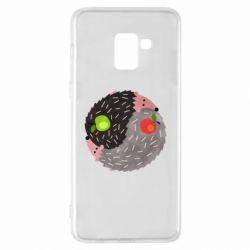 Чохол для Samsung A8+ 2018 Hedgehogs yin-yang