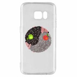 Чохол для Samsung S7 Hedgehogs yin-yang