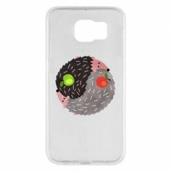 Чохол для Samsung S6 Hedgehogs yin-yang