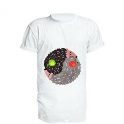Подовжена футболка Hedgehogs yin-yang