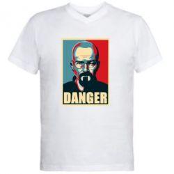 Мужская футболка  с V-образным вырезом Heisenberg Danger - FatLine