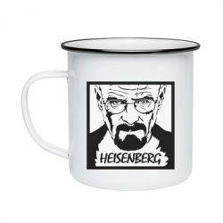 Кружка емальована Heisenberg face