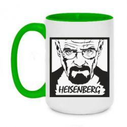 Кружка двоколірна 420ml Heisenberg face