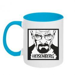 Кружка двоколірна 320ml Heisenberg face