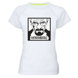 Жіноча спортивна футболка Heisenberg face