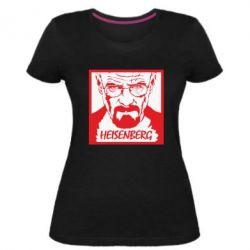 Жіноча стрейчева футболка Heisenberg face