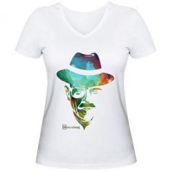 Женская футболка с V-образным вырезом Heisenberg - FatLine