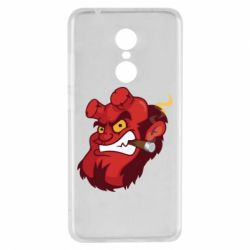 Чехол для Xiaomi Redmi 5 Hellboy with a cigar - FatLine