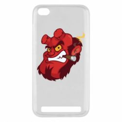 Чехол для Xiaomi Redmi 5a Hellboy with a cigar - FatLine