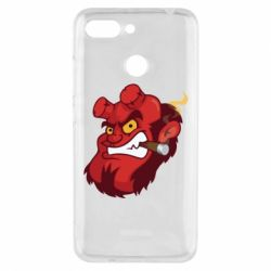 Чехол для Xiaomi Redmi 6 Hellboy with a cigar - FatLine