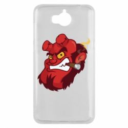 Чехол для Huawei Y5 2017 Hellboy with a cigar - FatLine