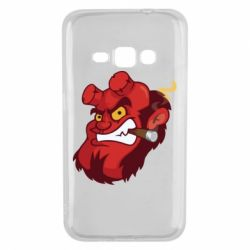 Чехол для Samsung J1 2016 Hellboy with a cigar - FatLine