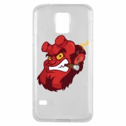 Чехол для Samsung S5 Hellboy with a cigar - FatLine