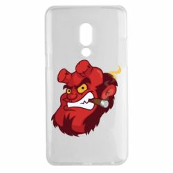 Чехол для Meizu 15 Plus Hellboy with a cigar - FatLine