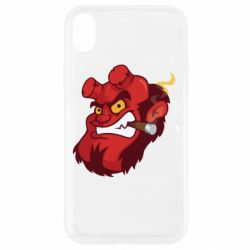 Чехол для iPhone XR Hellboy with a cigar - FatLine