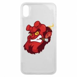 Чехол для iPhone Xs Max Hellboy with a cigar - FatLine