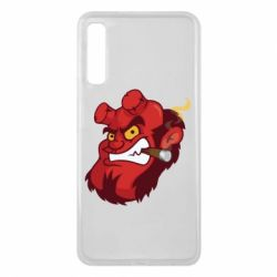 Чехол для Samsung A7 2018 Hellboy with a cigar - FatLine