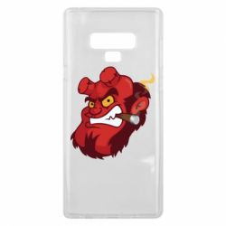 Чехол для Samsung Note 9 Hellboy with a cigar - FatLine