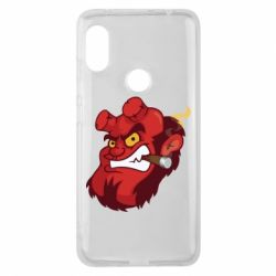 Чехол для Xiaomi Redmi Note 6 Pro Hellboy with a cigar - FatLine
