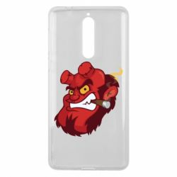 Чехол для Nokia 8 Hellboy with a cigar - FatLine