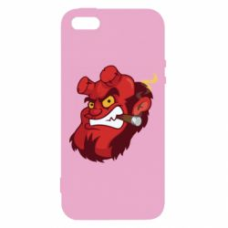 Чехол для iPhone5/5S/SE Hellboy with a cigar - FatLine