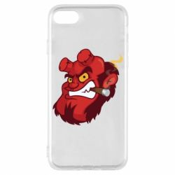 Чехол для iPhone 7 Hellboy with a cigar - FatLine
