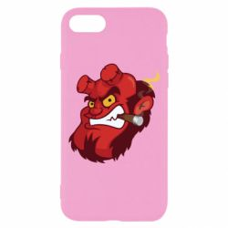 Чехол для iPhone 8 Hellboy with a cigar - FatLine