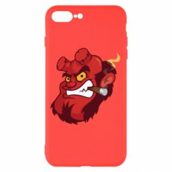 Чехол для iPhone 8 Plus Hellboy with a cigar - FatLine