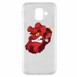 Чехол для Samsung A6 2018 Hellboy with a cigar - FatLine