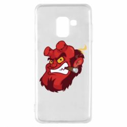 Чехол для Samsung A8 2018 Hellboy with a cigar - FatLine
