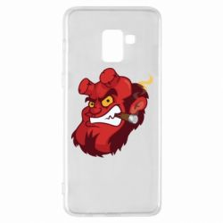 Чехол для Samsung A8+ 2018 Hellboy with a cigar - FatLine