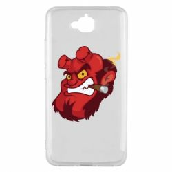 Чехол для Huawei Y6 Pro Hellboy with a cigar - FatLine