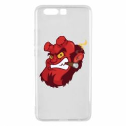 Чехол для Huawei P10 Plus Hellboy with a cigar - FatLine
