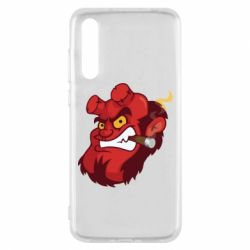 Чехол для Huawei P20 Pro Hellboy with a cigar - FatLine