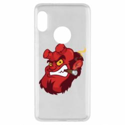 Чехол для Xiaomi Redmi Note 5 Hellboy with a cigar - FatLine
