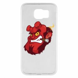 Чехол для Samsung S6 Hellboy with a cigar - FatLine