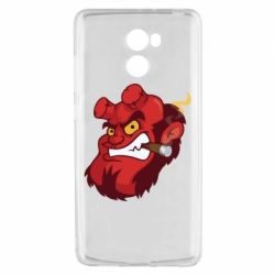 Чехол для Xiaomi Redmi 4 Hellboy with a cigar - FatLine