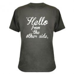 Камуфляжная футболка Hello from the other side