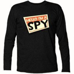 Футболка з довгим рукавом Hello i'm a spy