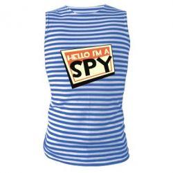 Майка-тільняшка Hello i'm a spy