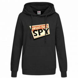 Толстовка жіноча Hello i'm a spy
