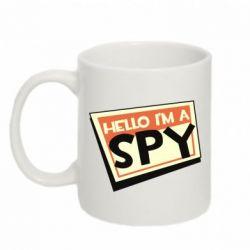 Кружка 320ml Hello i'm a spy