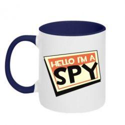 Кружка двоколірна 320ml Hello i'm a spy