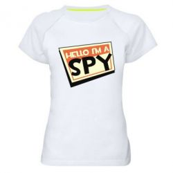 Жіноча спортивна футболка Hello i'm a spy