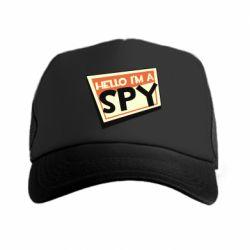 Кепка-тракер Hello i'm a spy