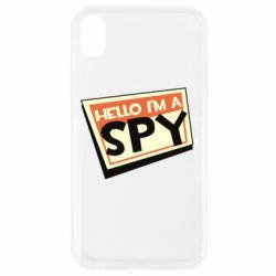 Чохол для iPhone XR Hello i'm a spy