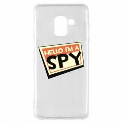 Чохол для Samsung A8 2018 Hello i'm a spy