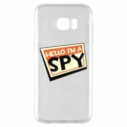 Чохол для Samsung S7 EDGE Hello i'm a spy