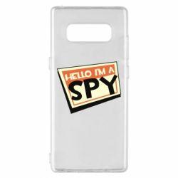 Чохол для Samsung Note 8 Hello i'm a spy